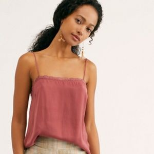 NWT Free People Deep Red Beyond Me Cami